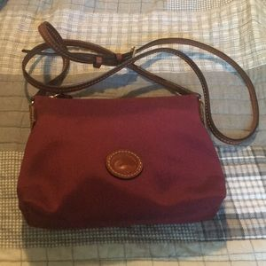 Dooney and Bourke Cranberry Nylon Crossbody